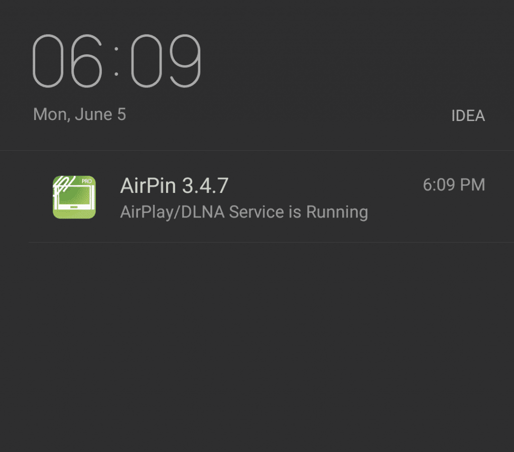 Service notification of AirPin