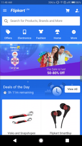 Flipkart Web app