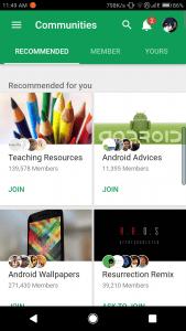 Google+ Web app