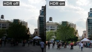 Non HDR image vs HDR image