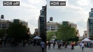Non HDR image vs HDR image