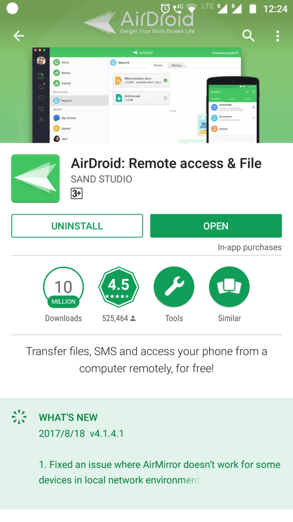 AirDroid on Playstore