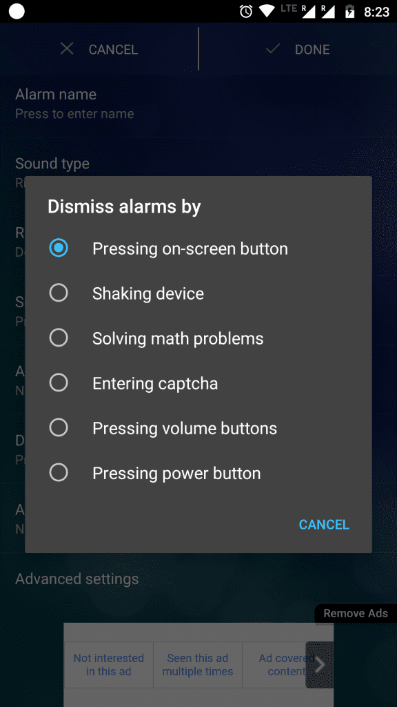 Alarm xtreme