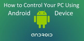 Control Your PC Using Android Device