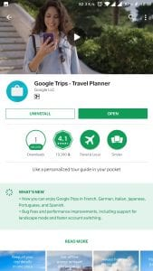 Google Trips - Playstore (travel around to your heart's content)