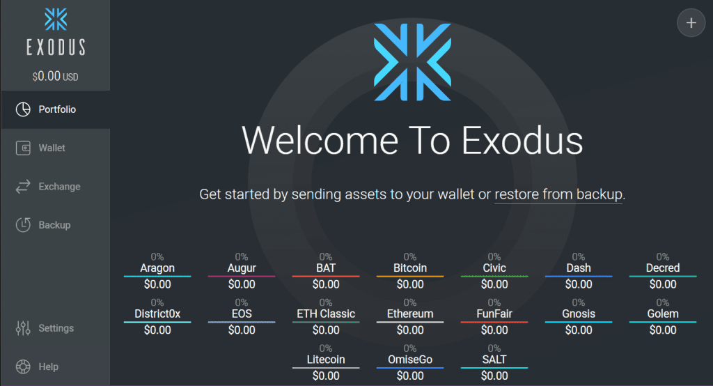 Exodus - wallets