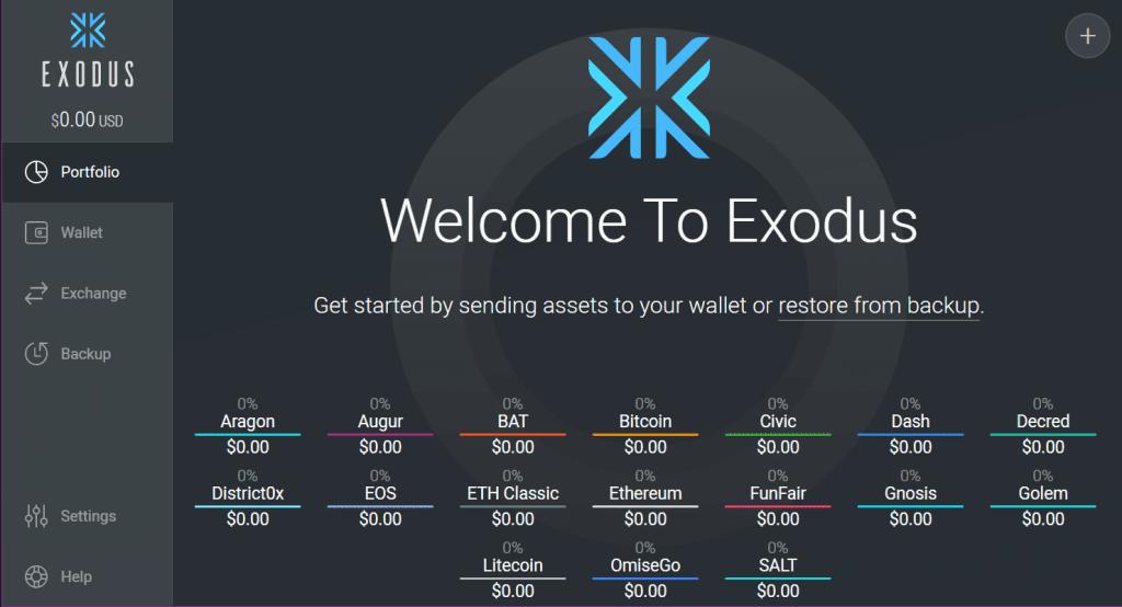 Exodus - wallets