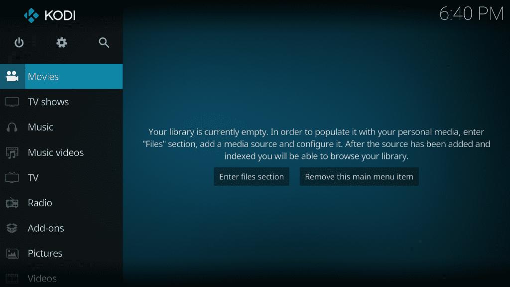 Kodi - Home Screen - subtitles for kodi
