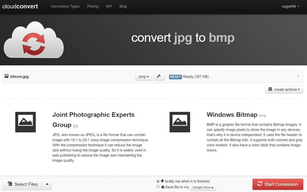 Ready to convert - CloudConvert