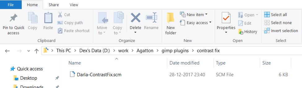 Script file - GIMP plugins
