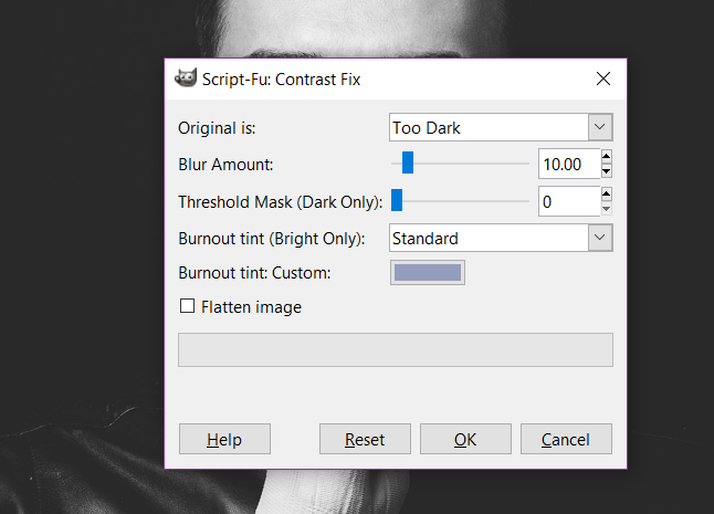 Contrast Fix - GIMP plugins