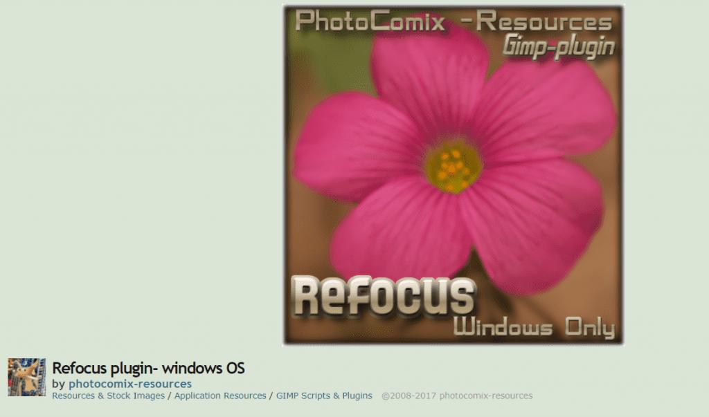 Refocus - GIMP plugins