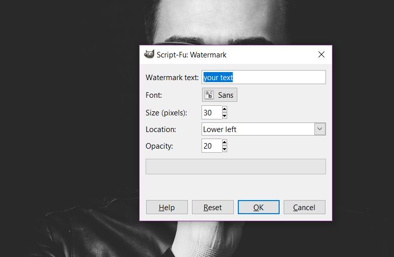 Watermark - GIMP plugins