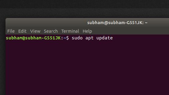 sudo-apt-update - install Kodi