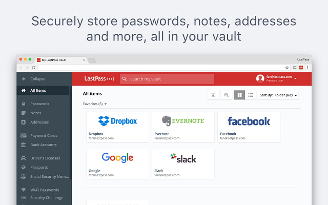LastPass- remember Passwords
