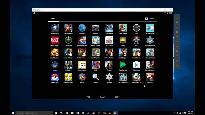 leapdroid best android emulator