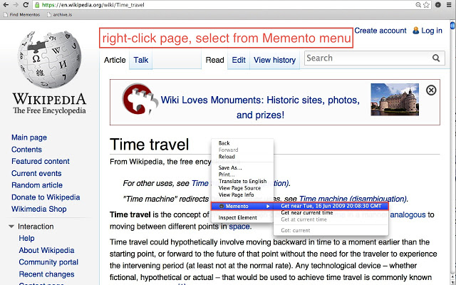 Momento - Travel back to Time