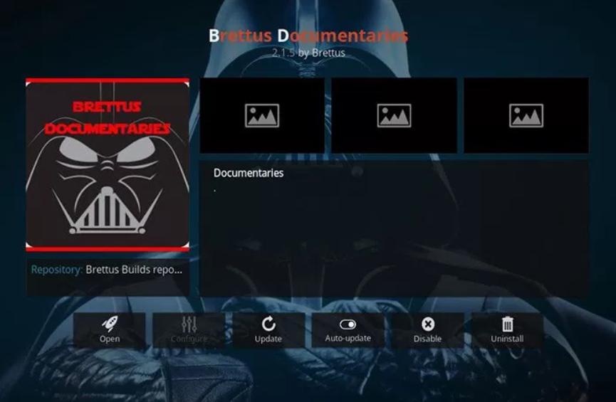 Brettus Documentaries - Kodi add-ons