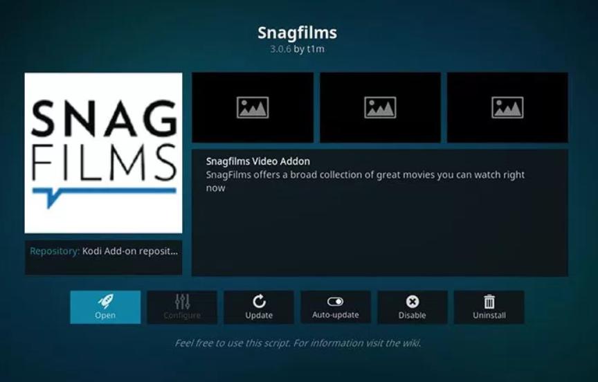 SnagFilms - Kodi add-ons