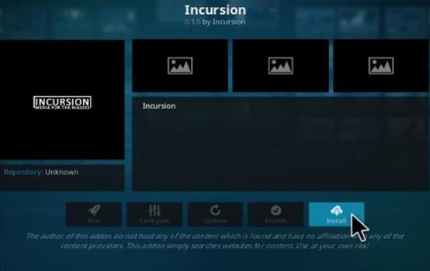 Incursion - Kodi add-ons