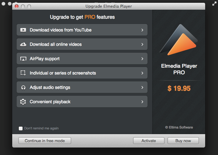 Elmedia Pro Features - Mac media players