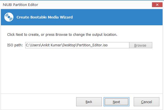 Create Bootable Media