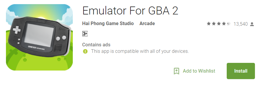 Emulator for GBA 2 - GBA emulators for Android