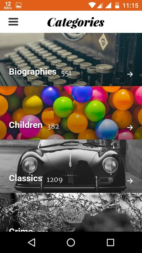 storytel categories