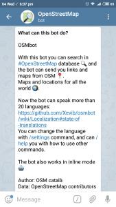 Telegram OSM Bot