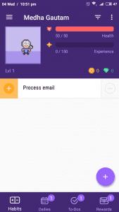 Habitica -1 - goal setting apps