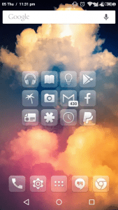 Glasklart- android icon packs