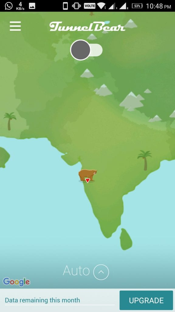 Location TunnelBear VPN