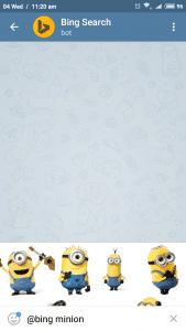 Telegram bing bot