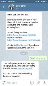 Telegram botfather