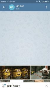 Telegram gif bot