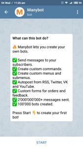 Telegram many bot