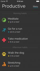 Productive-goal setting app