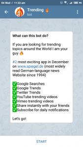 Telegram trending bot