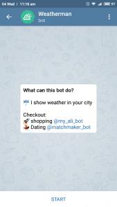 Telegram weather bot