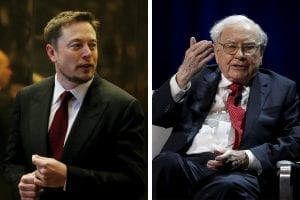 troll war between elon musk and Warren buffet