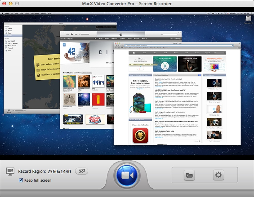 MacX Video Converter Pro - Screen Recorder