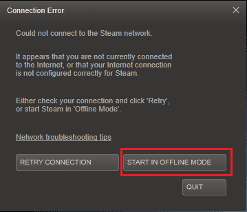 troubleshoot- network error
