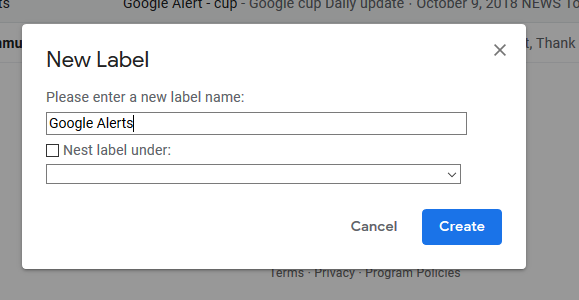 Step to configure alerts