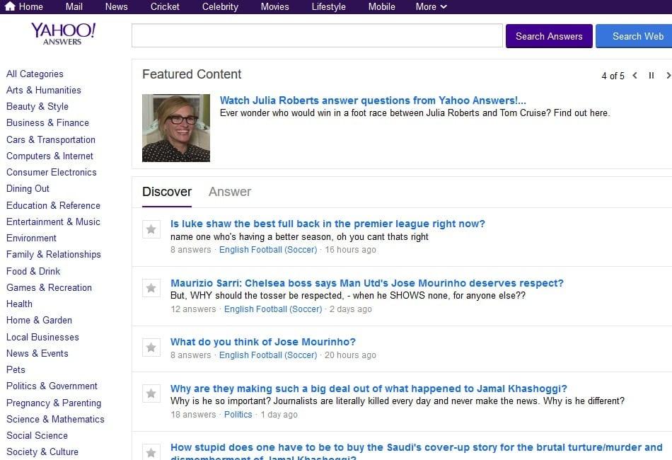 Yahoo! Answer