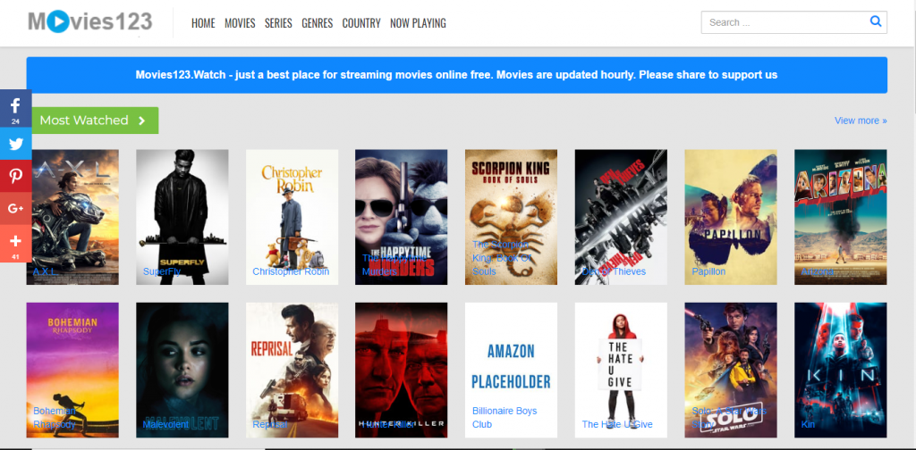Movies 123 - Free Movies Streaming No Sign Up