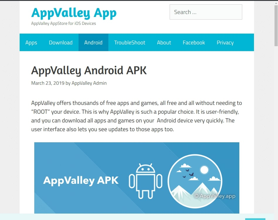 Appvalley Android