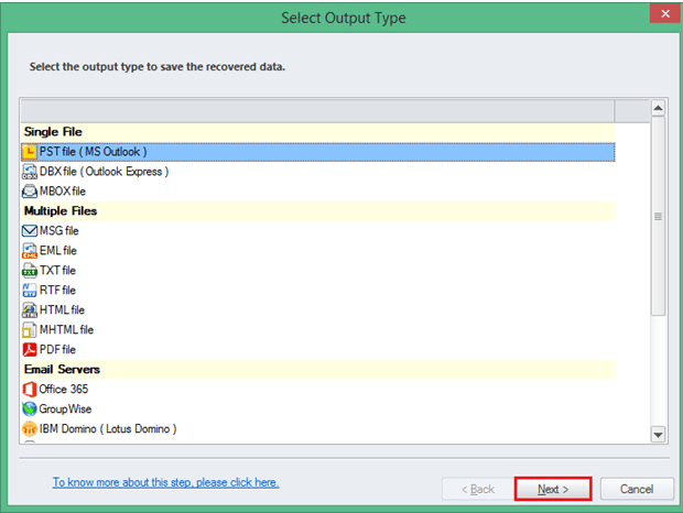 convert ost to pst - step 3
