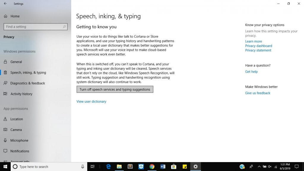 turn off cortana - method 2