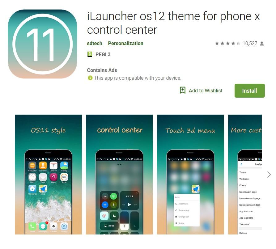 iLauncher OS12