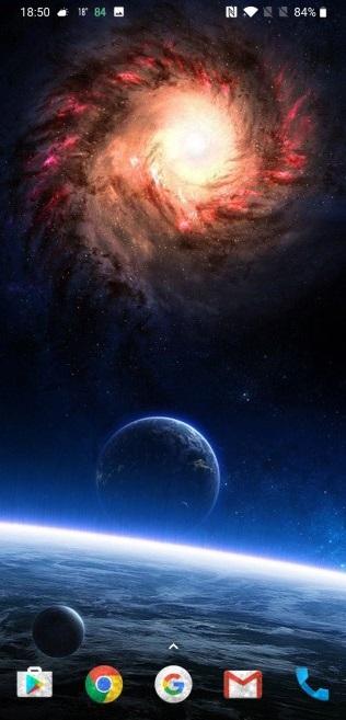 nova launcher- space